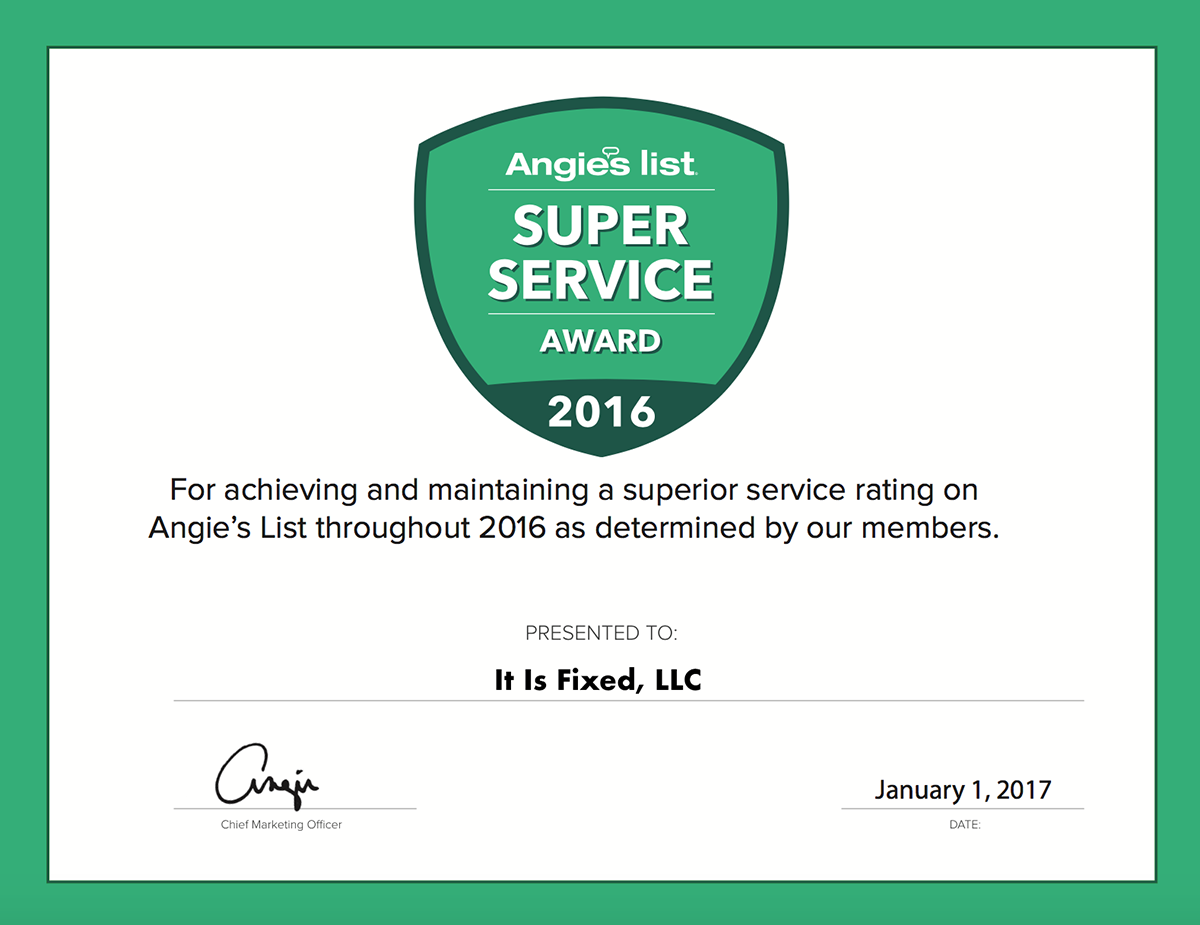 Best Atlanta Appliance Service Award