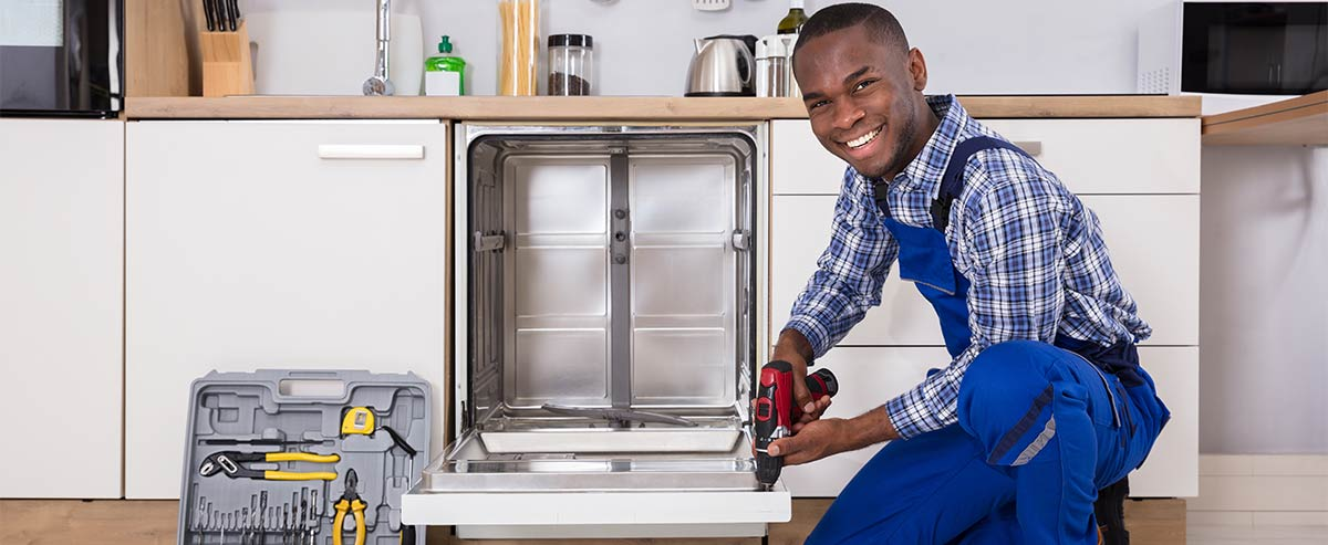 Happy Appliance Repair Technician